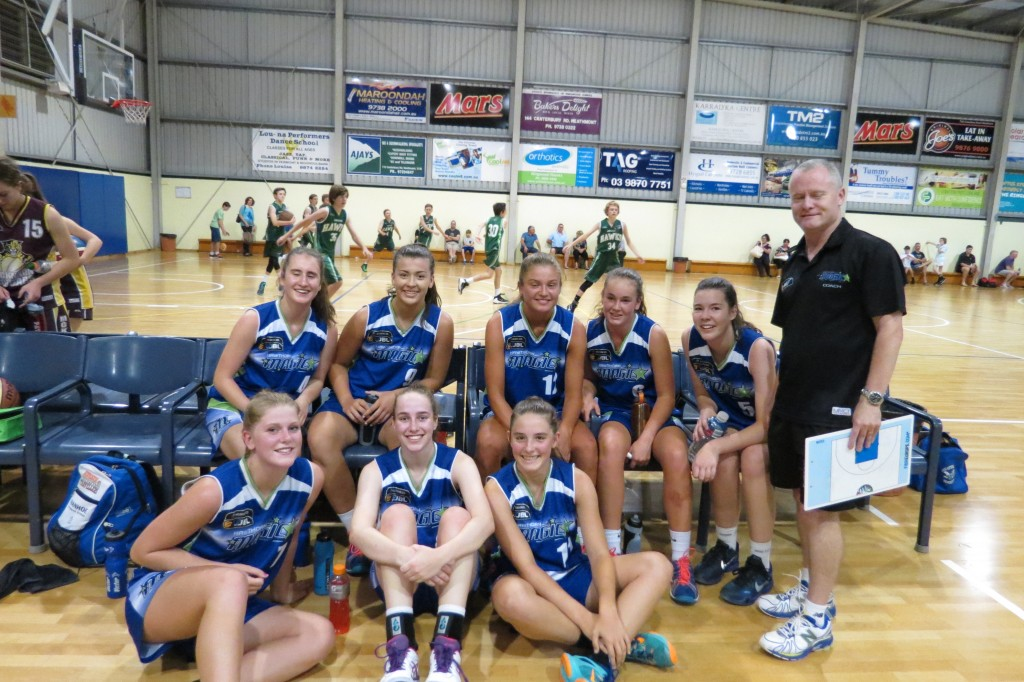 18.1 Girls competed in the Eltham / Dandenong Tournament with Peter Buckle coaching