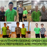 Green shirt basketball trainees promoted to C Grade referee